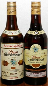 Barbancourt 8 year bottles